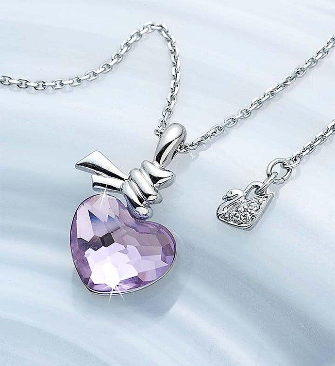 SWAROVSKI® Ties Of Love Crystal Heart Necklace Crystal Heart Necklace