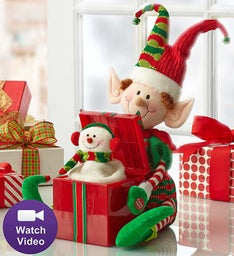 Joyful Holiday Animated Elf