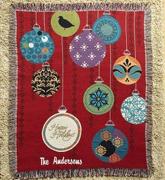 Personalized Decorative Holiday Blanket