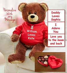 Personalized Gund® Bear for Love with Chocolate
