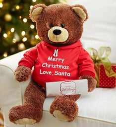 Personalized Holiday Gund® Bear with Chocolate