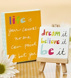 """Life is Your Canvas"" Keepsake"