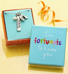 """Fortunate to Know You"" Artisan Necklace"