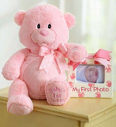 Baby's First Animated Teddy- Pink or Blue