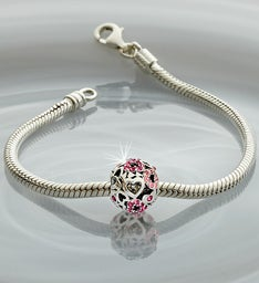 Chamilia® Bracelet with Pink Heart Charm