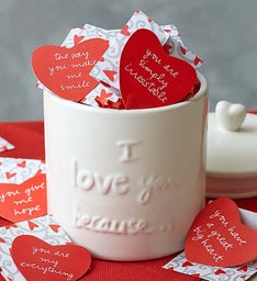 "Artisan ""I Love You Because"" Canister"