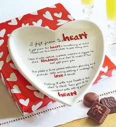 """A Gift From the Heart"" Plate with Free Chocolate"