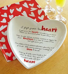 """A Gift From the Heart"" Giving Plate"
