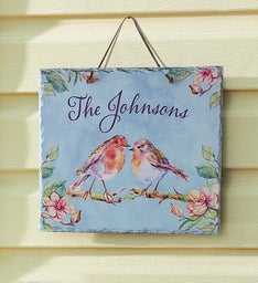 Personalized Spring Slate Sign