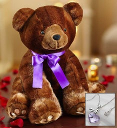 Luxury Sable Bear and Swarovski® Necklace