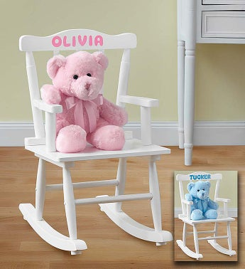 Personalized Rocking Chair for Boy or Girl Personalized Rocking Chair for Girl