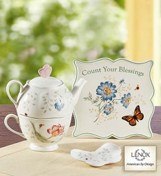 Lenox® Butterfly Meadow Tea-for-One Set