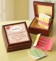Personalized Keepsake Box & 31 Inspirational Notes