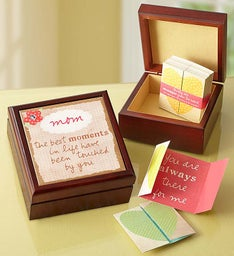 31 Inspirational Notes and Keepsake Box for Mom