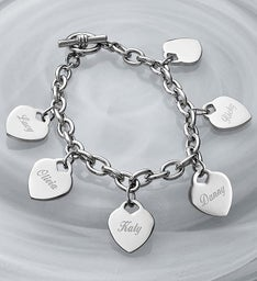 Personalized Family Charm Bracelet
