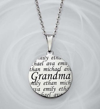 Personalized Pendant- Mother, Grandma, or Sister Grandma