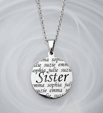 Personalized Pendant- Mother Grandma or Sister
