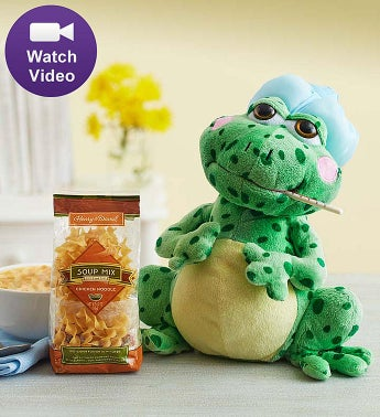 Animated Get Well Fever Frog Animated Fever Frog & Chicken Noodle Soup