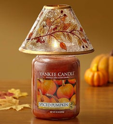 Yankee Candle® Spiced Pumpkin Jar with Fall Shade