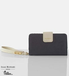 Isaac Mizrahi Leather Wallet- Black/Gold or Pink
