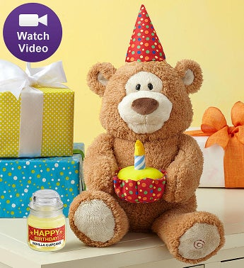 Happy Birthday Animated Bear by Gund® Happy Birthday Animated Bear with Candle