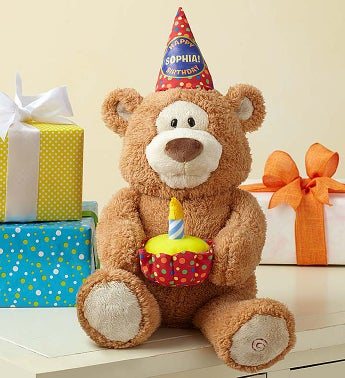 Personalized Happy Birthday Animated Bear by Gund® Personalized Happy Birthday Animated Bear