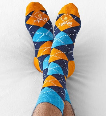 Good Day Argyle Socks for Men