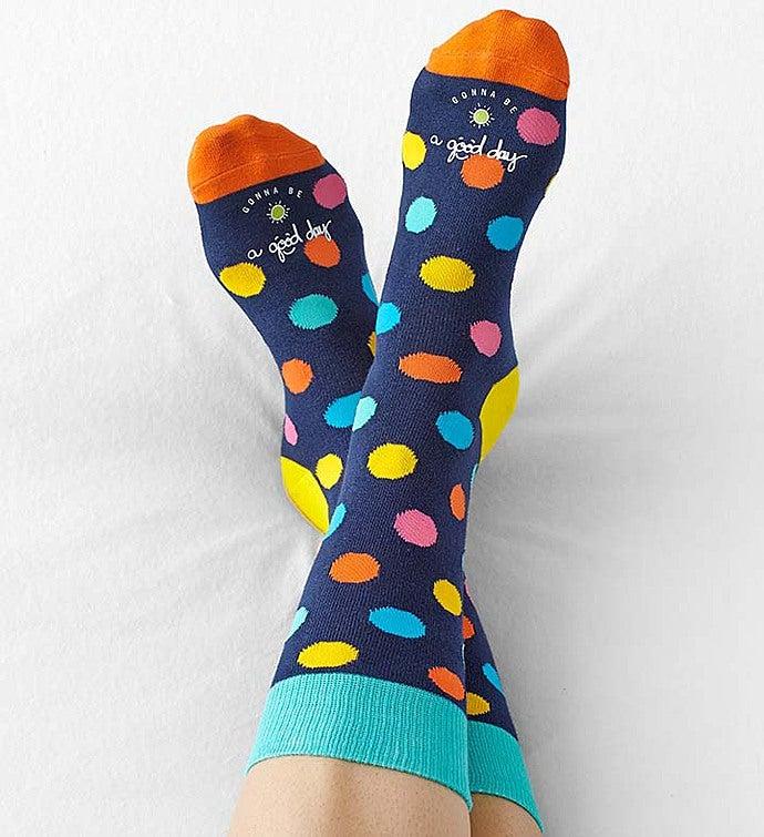 Good Day Polka Dot Socks for Women Good Day Polka Dot Socks Size 9-11