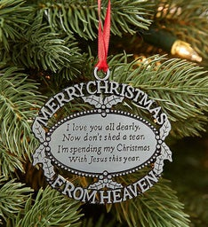 Merry Christmas from Heaven® Ornament