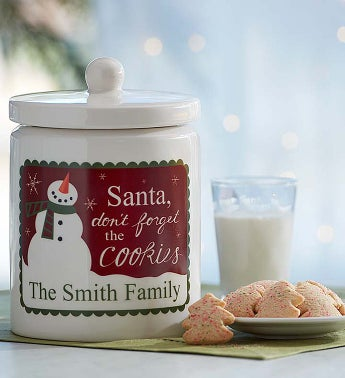 Personalized Christmas Cookie Jar- Free Cookies