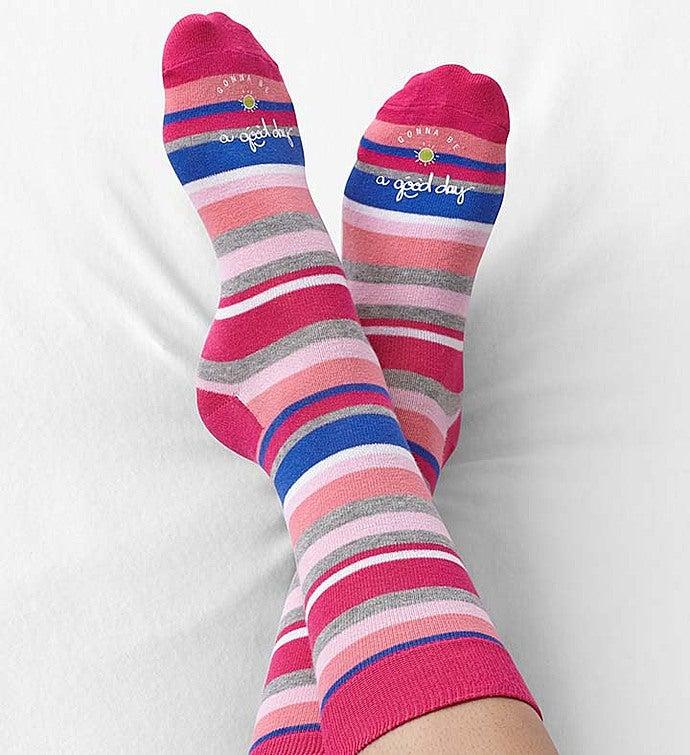 Good Day Striped Socks for Women Good Day Striped Socks Size 9-11