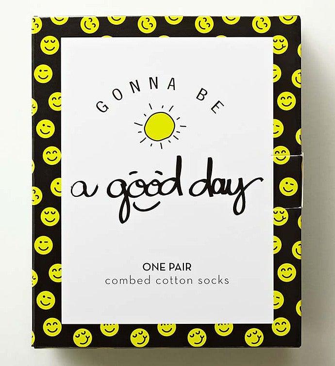 Good Day Smiley Socks for Men or Women