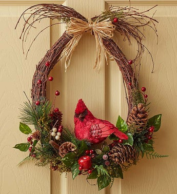 Woodland Cardinal Wreath - 18""