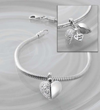 Chamilia Bracelet with Secret Message Heart Charm