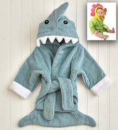Baby Aspen Hooded Robe- Shark or Flower