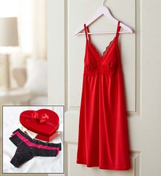 Valentine Night Cosabella Panty and Chemise Set