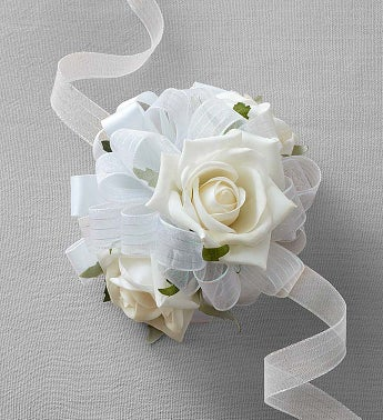 Keepsake White Corsage and Boutonniere White Corsage