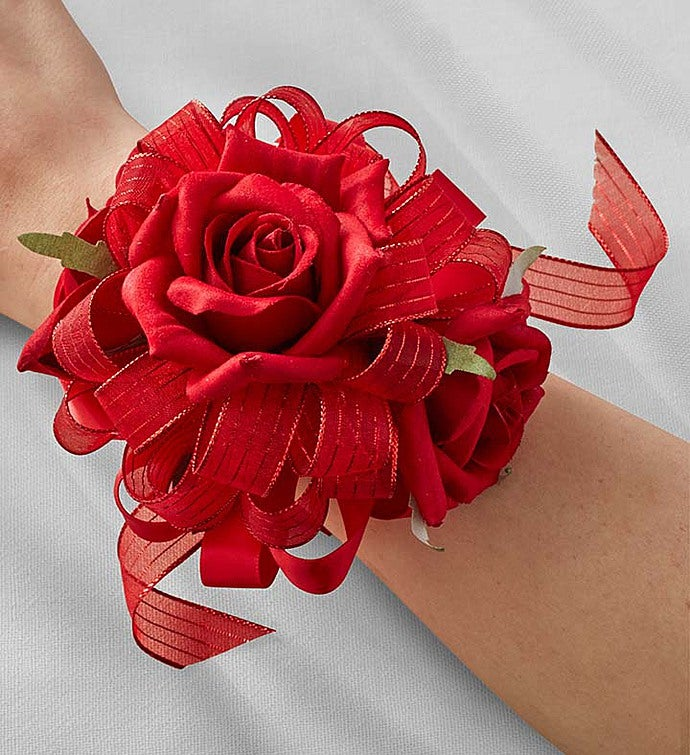 Keepsake Red Corsage and Boutonniere