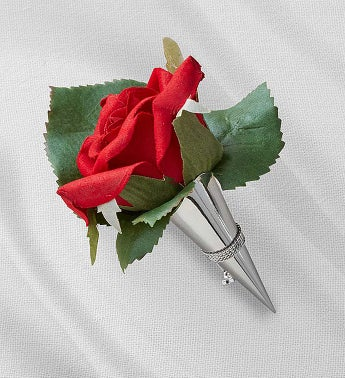 Keepsake Red Corsage and Boutonniere Red Boutonniere