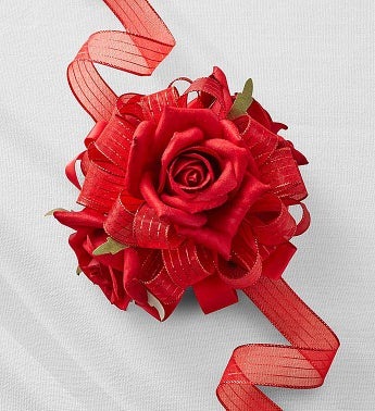 Keepsake Red Corsage and Boutonniere Red Corsage
