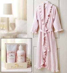 Ruffle Robe and Spa Gift Set