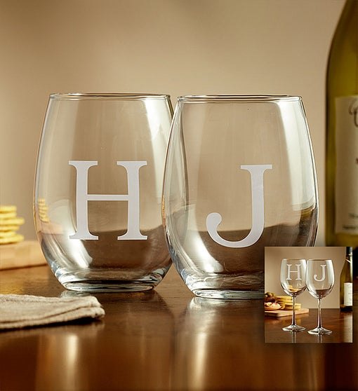 Personalized Wine Glasses - Set of 2