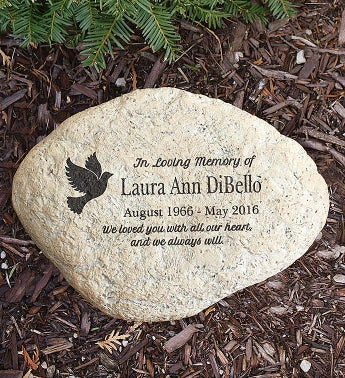 personalized engraved memorial garden stone 1800flowers