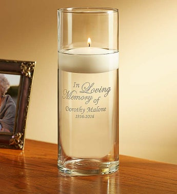 Personalized Floating Candle for Sympathy