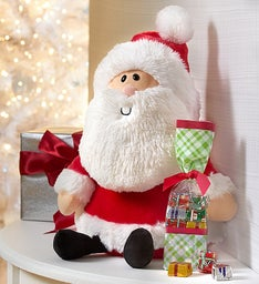 Gund® Santa Plush & Fannie May Chocolate Presents