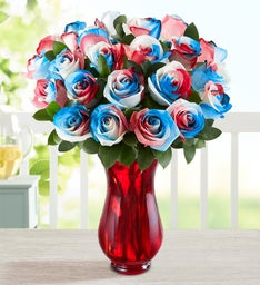 Kaleidoscope Roses: Red, White & Blue