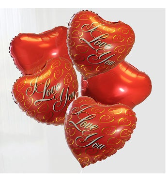 I Love You Valentines Day Balloon Bouquet