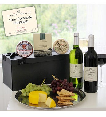 Personalized Wine Cheese & Crackers