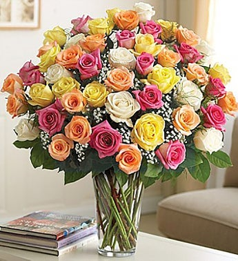 Long-Stem Assorted Roses