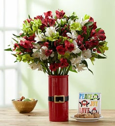 Christmas Peruvian Lily Bouquet